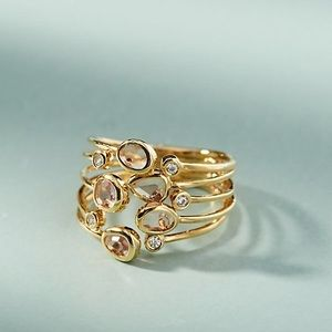 BNWT Anthropologie Gold Lilou Ring Size 6
